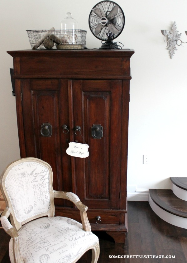 Beautiful armoire- love the vintage finds too eclecticallyvintage.com