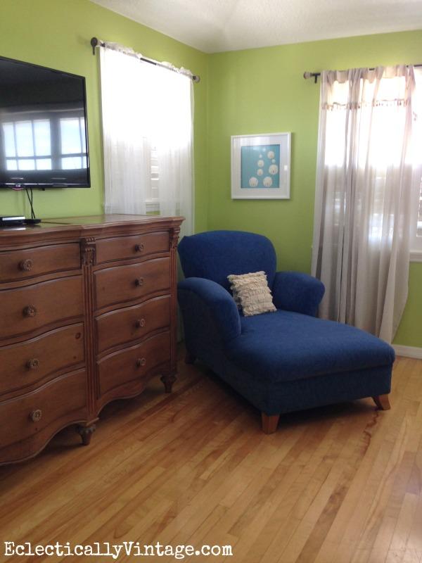 Blue chaise lounge kellyelko.com
