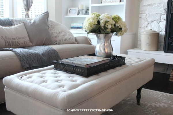 Love this tufted ottoman eclecticallyvintage.com