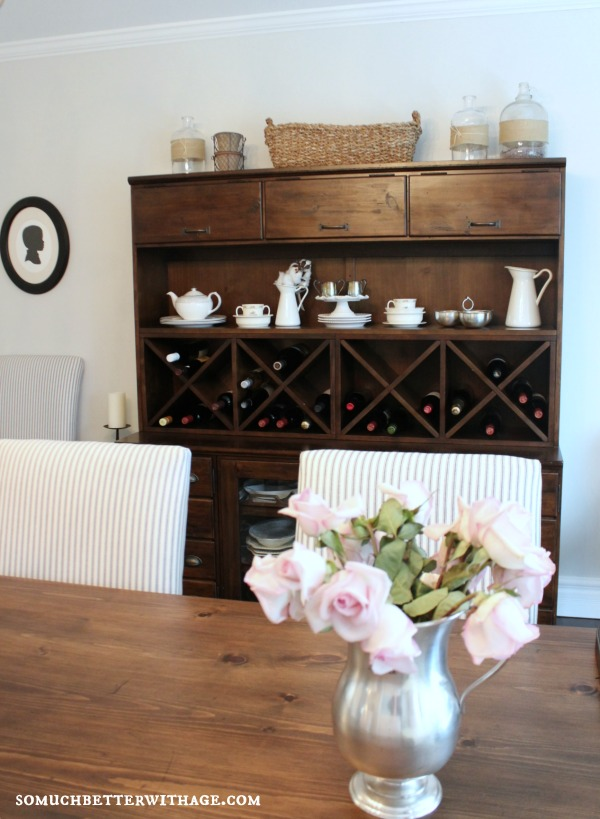 Love this dining room and the wine storage eclecticallyvintage.com