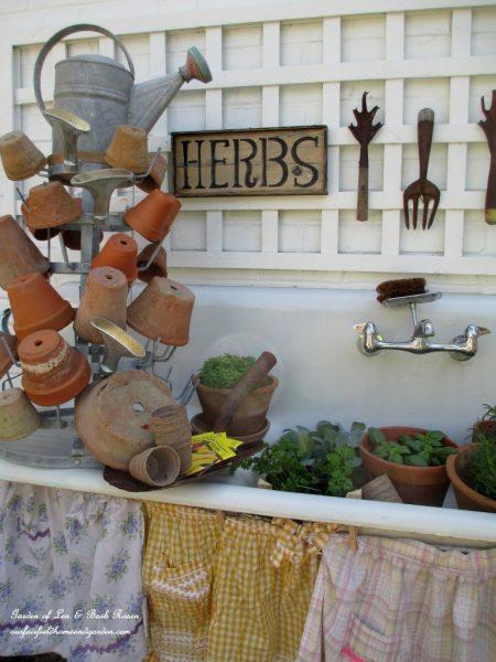 Vintage sink potting shed kellyelko.com