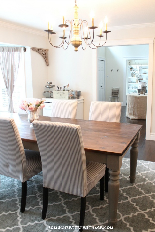 Beautiful neutral dining room kellyelko.com