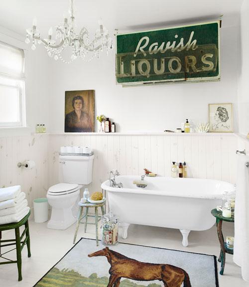 White country vintage bathroom renovation done on a budget kellyelko.com