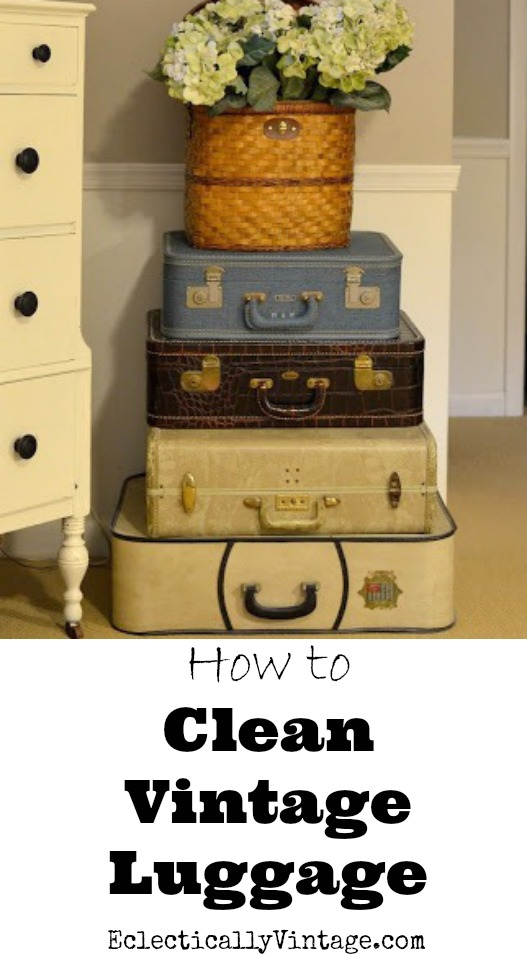 How to Clean Vintage Luggage - to have it looking (and smelling!) like new! kellyelko.com