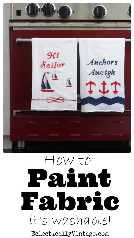 How to Paint Fabric - see how to turn fabric into washable works of art! kellyelko.com
