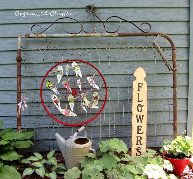 Garden markers on display in this creative garden kellyelko.com