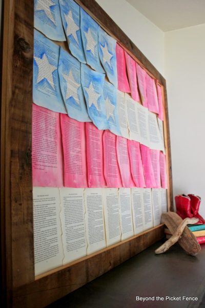 Turn book pages into DIY flags! kellyelko.com