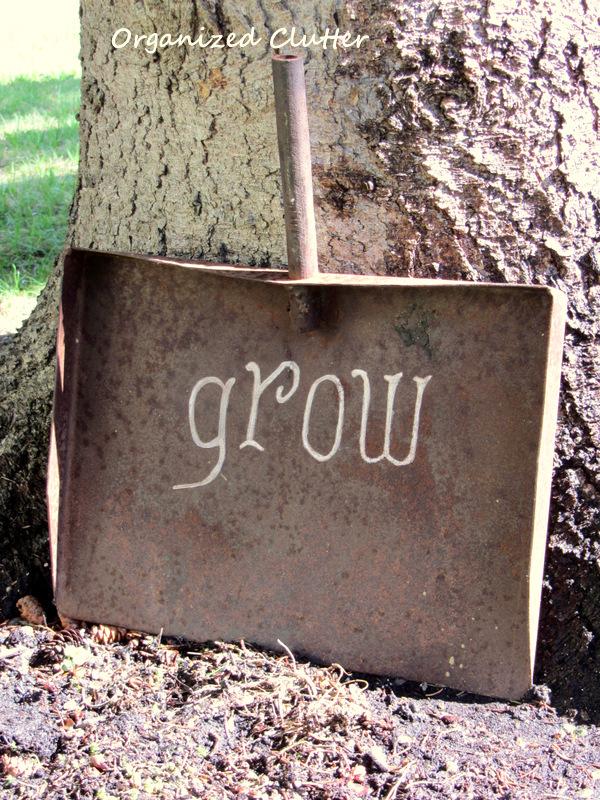 Grow shovel - part of this whimsical garden tour kellyelko.com
