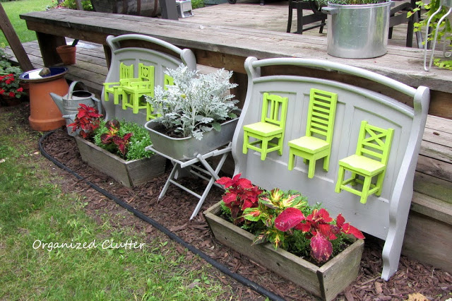 Turn a crib into a garden display kellyelko.com