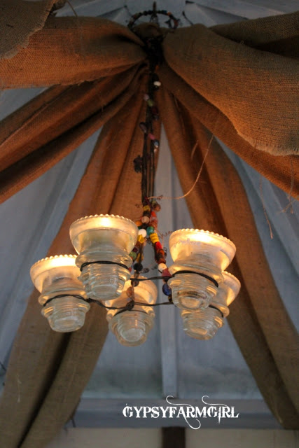 Vintage insulator chandelier eclecticallyvintage.com
