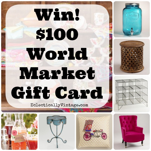 Sponsored Post EclecticallyVintage Win A 100 World Market Gift Card Kellyelko