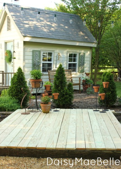Build a deck with railroad ties! eclecticallyvintage.com