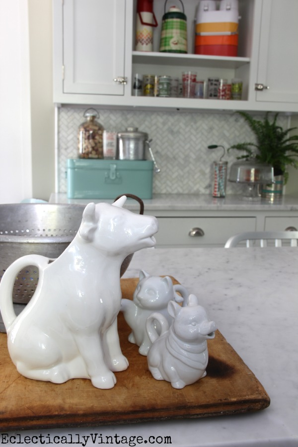 Love this vintage creamer collection eclecticallyvintage.com