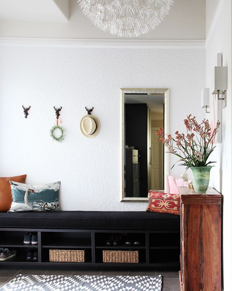 What a fun entry - love the light and the little deer head hooks! kellyelko.com