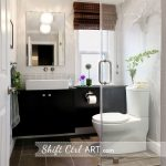 Shift Ctrl Art Home Tour - love this stunning bathroom! eclecticallyvintage.com