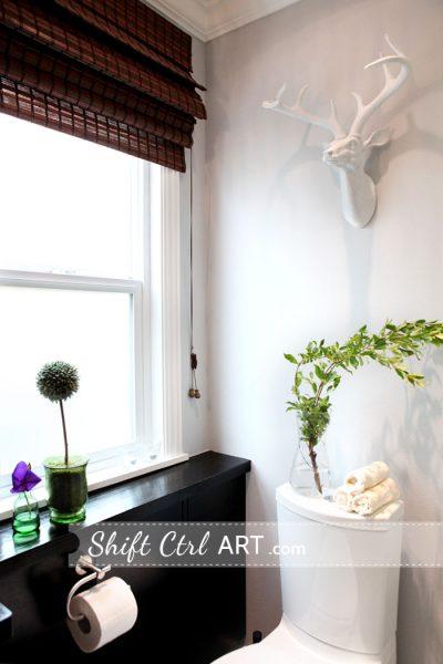 Oh deer - love this bathroom!  kellyelko.com