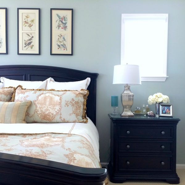 Beautiful bedroom - love the paint color kellyelko.com