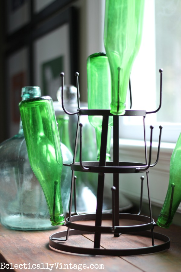 Love this mini bottle drying rack! ecelcticallyvintage.com