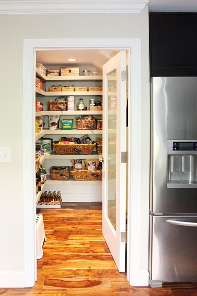 Walk in pantry - love the organization kellyelko.com