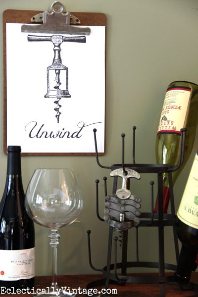 Four fun FREE wine printables - love these! eclecticallyvintage.com