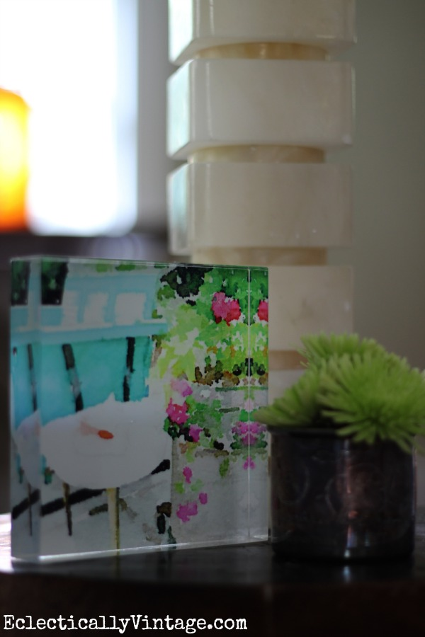 I love this acrylic block - it would make the perfect gift and you can print any photo on it! kellyelko.com