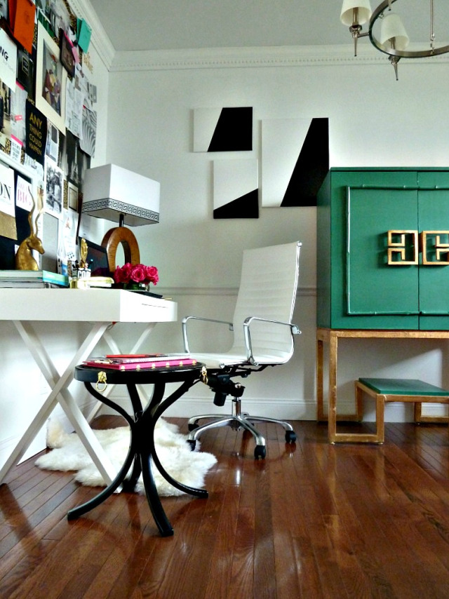 Chic office style eclecticallyvintage.com