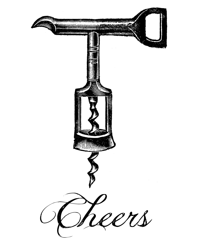 Heavy Card Stock Printer Cheers Corkscrew Printable
