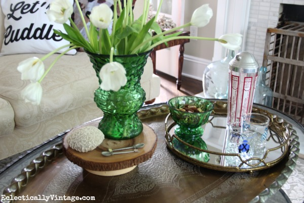 Love the way this coffee table is styled! kellyelko.com