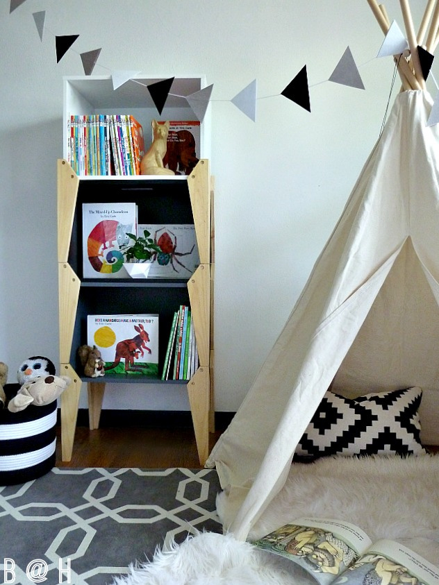 Cute kids teepee - what a fun bedroom! kellyelko.com