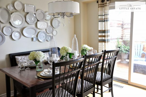 Eclectic Home Tour of This Little Estate - love the plate wall! kellyelko.com