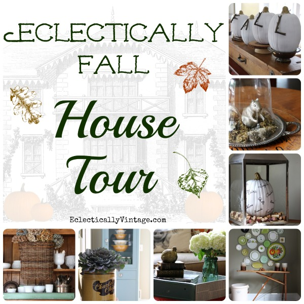 Eclectically Fall House Tour - tons of great fall decorating ideas! kellyelko.com #EclecticallyFall