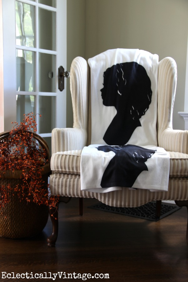 Love this custom silhouette throw kellyelko.com