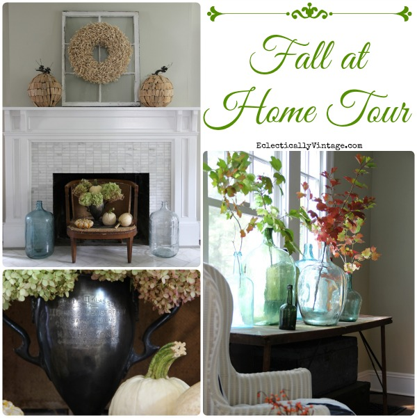 Fall at Home Tour - so many creative fall decorating ideas! kellyelko.com