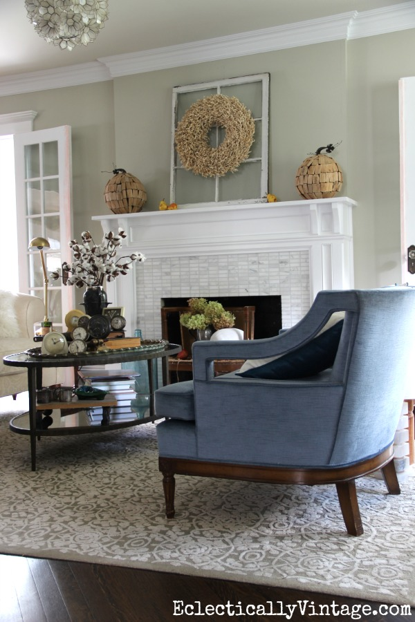 Living room fall decorating ideas kellyelko.com