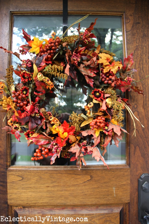 Beautiful fall wreath kellyelko.com