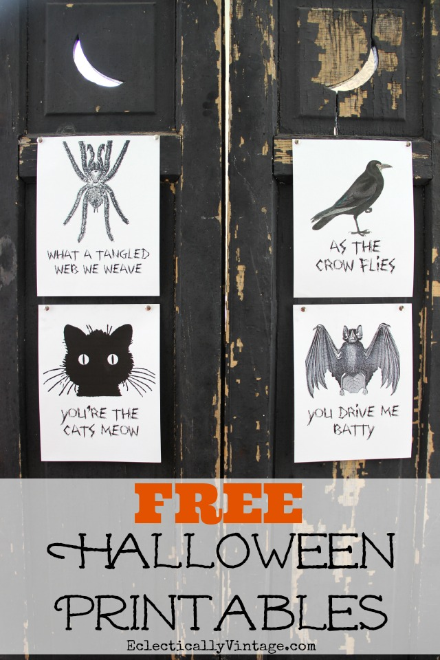 FREE Halloween Printables - I love the fun sayings! kellyelko.com