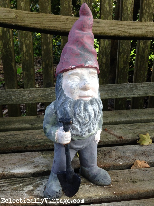 Gnome makeover - the after is so cute! kellyelko.com