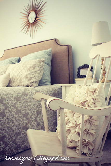Every bed needs a comfy chair nearby - love the rocker kellyelko.com