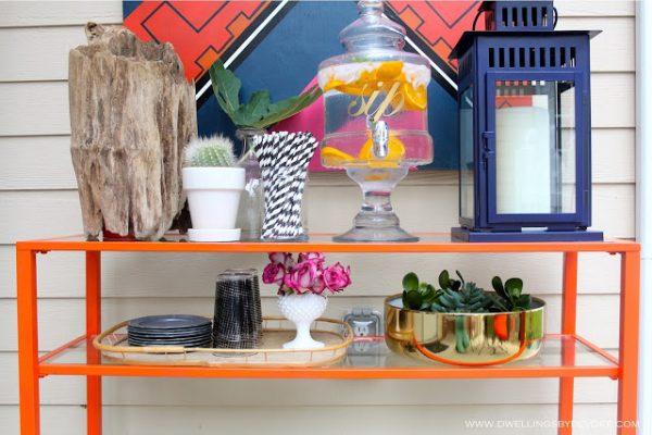 Colorful patio table kellyelko.com