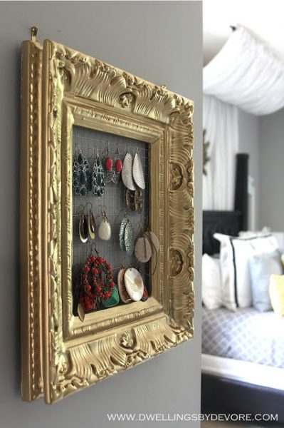 Frame your jewelry - great way to organize and display kellyelko.com