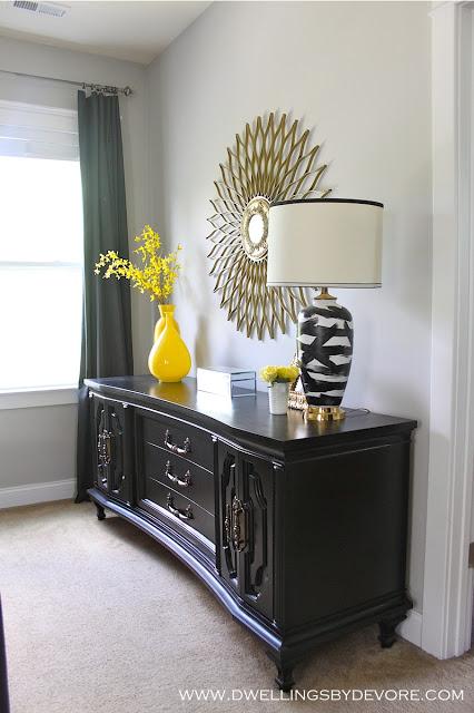 Bedroom dresser - love the mix of vintage and modern kellyelko.com