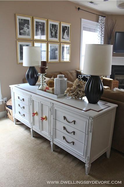 Old dresser gets new life as sofa table kellyelko.com