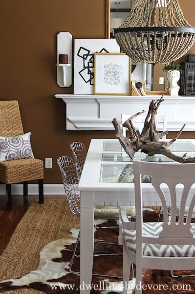 Eclectic Home Tour of Dwellings by Devore - love this dramatic dining room kellyelko.com
