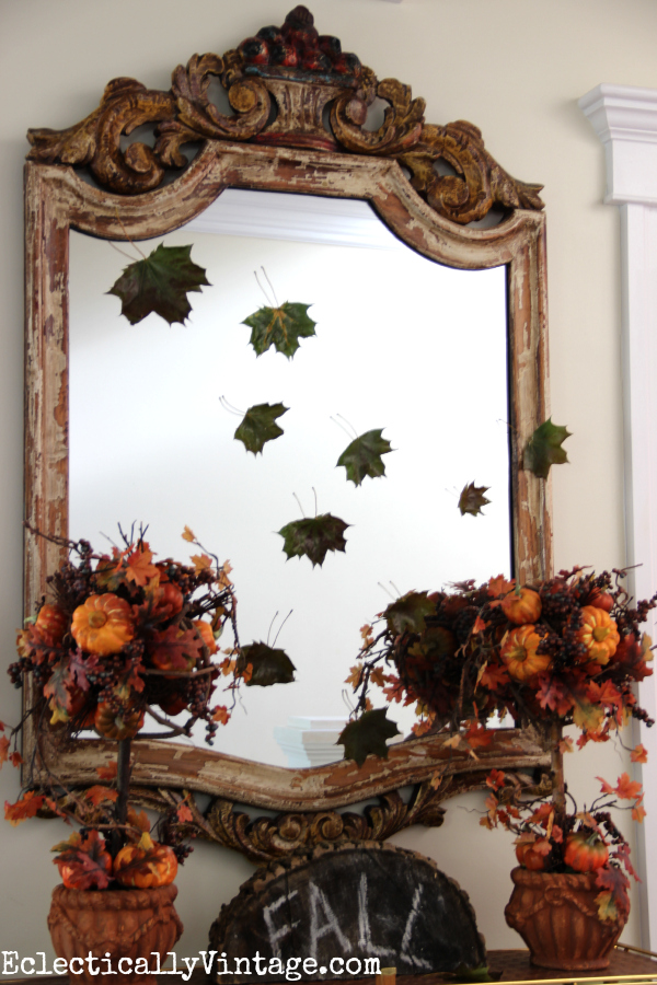 Falling leaves for fall decor eclecticallyvintage.com #EclecticallyFall