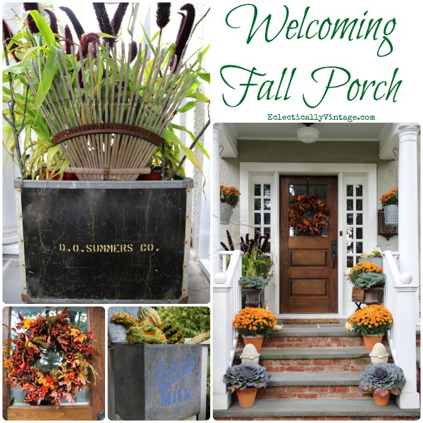 Welcoming Fall Porch Decorating Ideas kellyelko.com