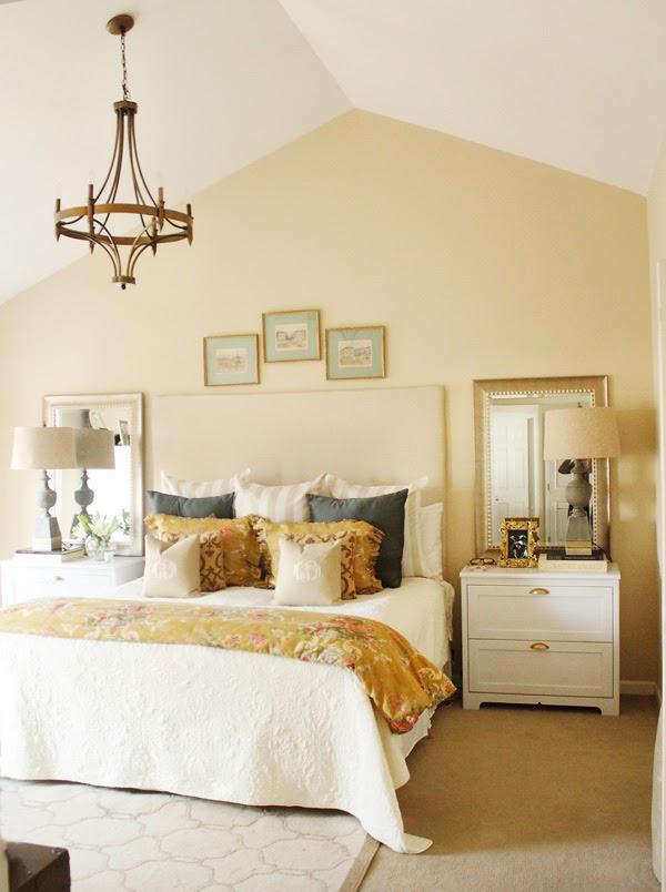 Neutral master bedroom - love the symmetry kellyelko.com