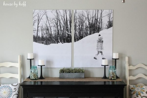 Make split photo art - so inexpensive and looks like it cost a fortune! kellyelko.com