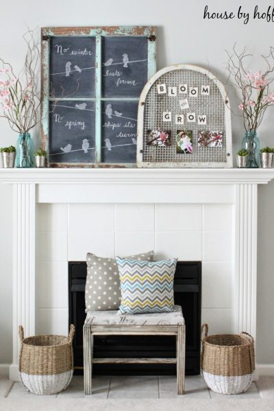 Eclectic Home Tour of House by Hoff - love the way she decorates with her inexpensive finds kellyelko.com