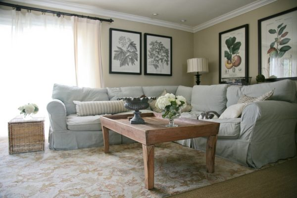 Cozy sectional sofa is perfect in a family room kellyelko.com