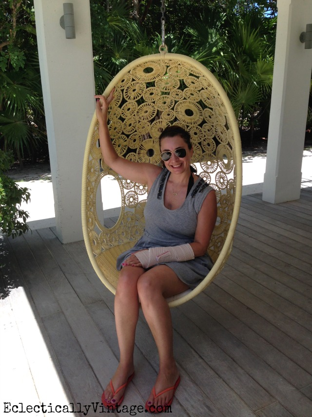 Love this rattan egg chair kellyelko.com